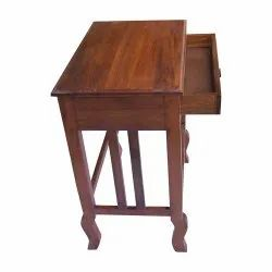 Brown Rectangular Wooden Table With Drawer, For Home, Size: 1 X 1.5 Feet