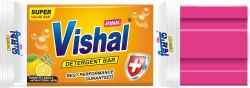 Lemon Vishal Pink Detergent Cake, Shape: Rectangle, Packaging Size: 180 Pc X 85g
