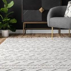 Textured Rug,Knotted Wool Rug For Home And Living Rugs For Home And Living,Handmade Cotton Wool Rug
