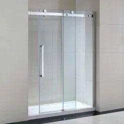 Sliding Plain Frameless Glass Doors