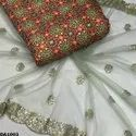 Soft Silk Embroidery Fabric  with Prints