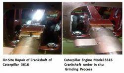 Caterpillar Engine Model 3616 and Crankshaft Repair Onsite of Caterpillar Diesel Generator