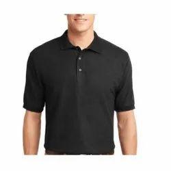 Cotton Black Men Polo T Shirt