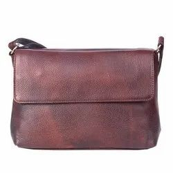 Brown Leather Ladies Bags And Purse