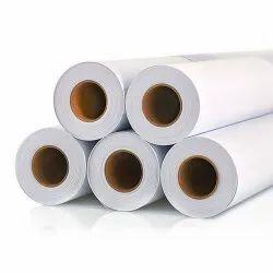 White Plain Frontlit Flex Banner Roll