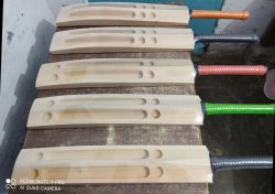 Cream Kashmir Indian Willow SkyFit Premium(Single blade) Sccop Bat, Willow Grade: Top, Size: 35 Inch