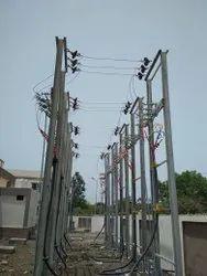 HT/ LT Overhead Line Erection Services upto 33 kV