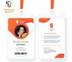White Rectangular Office ID Card, 2 g, 85 X 60 Mm