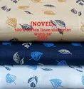 Novel 100% Cotton Linen Slub Print Shirting Fabric