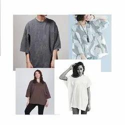 Round Half Sleeve Baggy Shirts