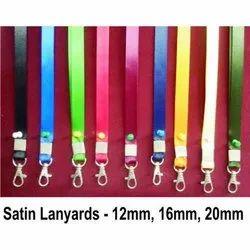 Satin Lanyard, Dog Hook With Print 12mm