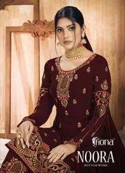 Fiona Noora Georgette Designer Bottom Work Salwar Suit Catalog