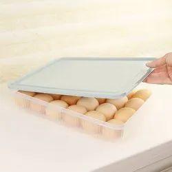 Maitri White Plastic Egg Box, Size: 31cm X 23cm X 4.5cm