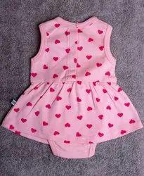 Girl Kids Pink Printed Frock