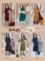 Manas Fab Delight Vol 3 Chinon Silk With Embroidery Work Kurti With Bottom Catalog
