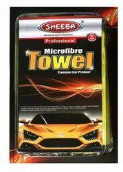 Yellow Plain Microfiber Wax And Polish Towel, Rectangle, Size: 16 X 16 Inch