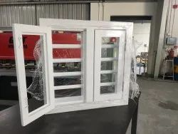 Galvanised Iron White Aluminum French Window, Size/Dimension: Custom