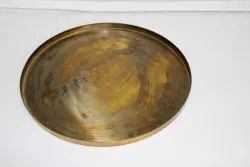 DCI  Metal Rustic Finish Round Serving Tray, Shape: Circular, Size: 45 Cm
