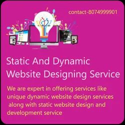 PHP/JavaScript Responsive Static And Dynamic Website Designing Service, With 24*7 Support