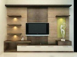Wall Mounted Engineered Wood TV Cabinet