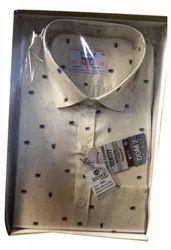 Male Plain Grey Cotton Shirt