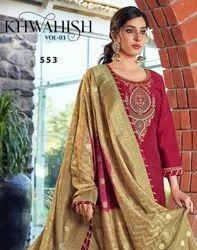 Triple AAA Khwahish Vol 3 Prampara Silk With Khatli Work Dress Material Catalog