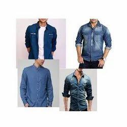 Kriscan Cotton Mens Denim Shirts