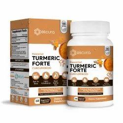 Curcuminoids Capsules - Elicura Turmeric Forte (60 Veg Capsules)