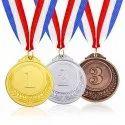 silver gold brass medals