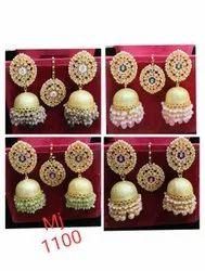 Designer Earrings With Tika