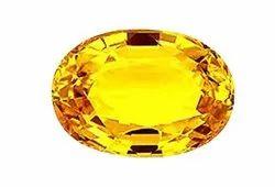Gemstone Oval Natural Yellow Sapphire, Carat: 10 Carat