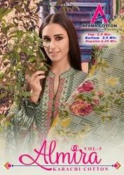 Apana Cotton Almira Vol 5 Karachi Cotton Printed Dress Material Catalog