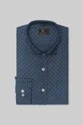 Boros Casual Lead grey printed shirt