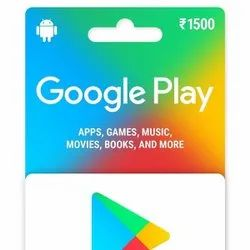 1 Month Google Play INR 1500 Recharge Card