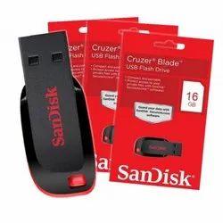 Sandisk USB 2.0 16 GB Pendrive(红色和黑色)