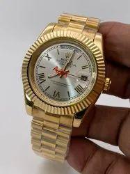 Analog Golden Rolex Men Wrist Watches