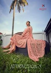 Deepsy Suits Attraction Vol 5 Jam Cotton Print With Embroidery Work Dress Material Catalog