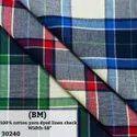 100% Cotton Yarn Dyed Check Shirting Fabric