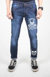 Denim Plain Mens Printed Jeans