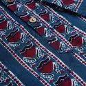 Janasya Men's Blue Cotton Kurta(MEN5011)