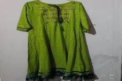 Cotton Half Sleeve Ladies Anarkali Kurti, Wash Care: Machine wash