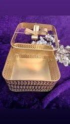 Rectangular Wedding Metal Basket, For Gifting Purposes