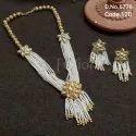 Fusion Arts Pearl Beaded Kundan Necklace Set