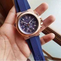 Blue Michael Kors Chronograph Watch For Men