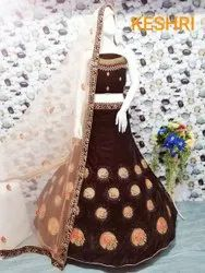 6 COLOR Embroidery Wedding Dress, Size: Free
