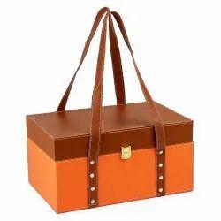 Leather Gift Basket / Gift Hamper, For Gifting