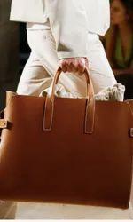 Hand Handled Brown Voguish Handheld Bag
