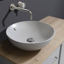 White Designer Ceramic Table Top Wash Basin, For Bathroom