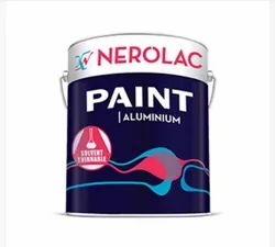 Bright,Smooth And Lustrous Nerolac Aluminium Paint, Packaging Size: 8 Litre