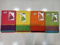 Chanderi Cotton Saree With Blouse